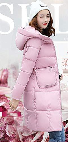 Parka Piumino Laisla Con Cl��sico Addensare Caldo Taglie Trendy Cappuccio Inverno Donna Fashion Ragazza Trapuntato Grandi Manica Elegante Lungo Rosa A 55wFqO6r4
