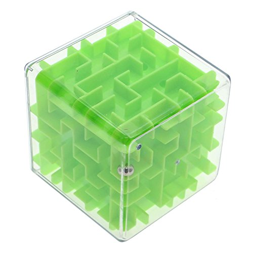 [Adult Kid 3d Maze Magic Cube Labyrinth Rolling Twist Toy Challenging Puzzle Game] (Super Nerdy Costume)