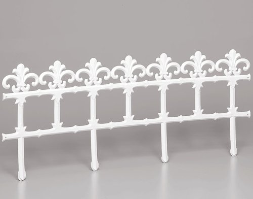 ROMULUS 90418 Ziergitter weiß 35x90 cm Kunststoff mit Verbingsteil