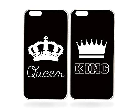 7e3750d857 Image Unavailable. Image not available for. Color: FavorPlus King and Queen  Crown Couple Matching Apple iPhone Custom Case iPhone 7 Plus ...