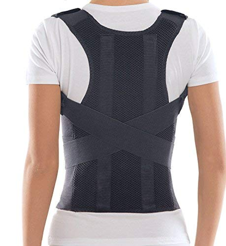 TOROS-GROUP Comfort Posture Corrector Shoulder and Back Brace Support Lumbar Support for Men and Women - Black (Small)