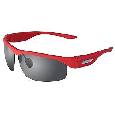 Sereer SG1 Polarized Sun Glasses Smart Glasses Bluetooth Glasses Music Glasses Sports Glasses Outdoor Glasses Drive Glasses (red)