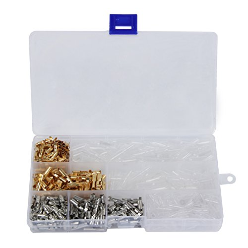 TargetEvo 400Pcs 3.9mm Car Truck Motorcycle Brass Male Female Bullet Terminals Wire Connector Insulation Covers With Box