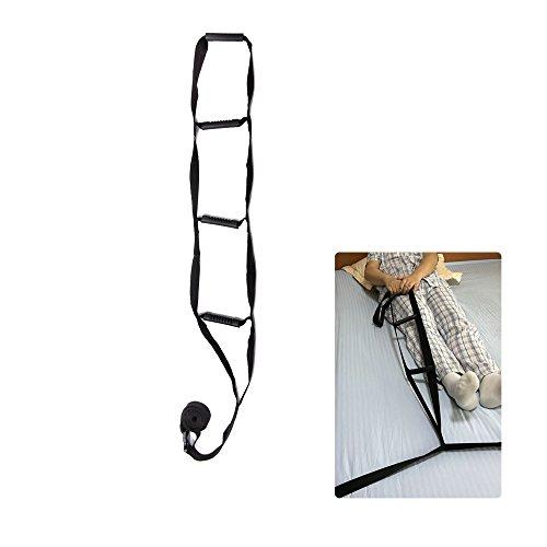 Bed Rail Assistance Devices Adjustable Bed Rail Assist Handle Ladder Hoist Frame Grips Medical Safety Pull Up Soft Rope Lifter Bedcaddie Trapeze for Adults, Elderly, Disabled, Handicap (Black) (Handicap Assistance)
