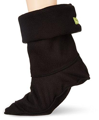 Western Chief Women's Solid Fleece Liner Mid Rain Boot, Black, Small/6-8 M US