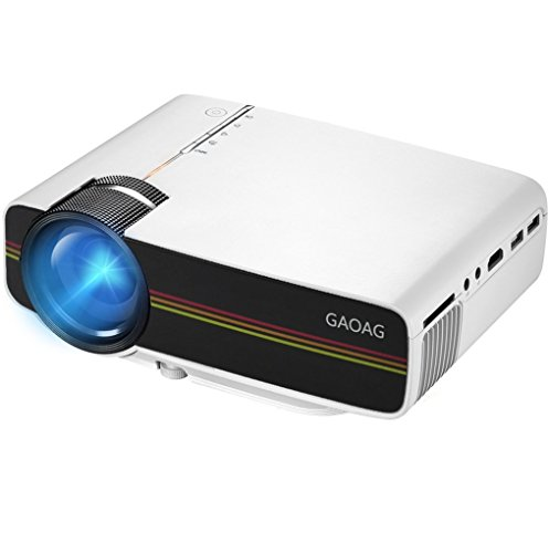 GAOAG Portable Video Projector + 20% Lumens Multimedia Home Theater Movies Projector Support 1080P HDMI VGA AV USB MicroSD for TV - Laptops - party - Games and iPhone iPad Android Smartphones