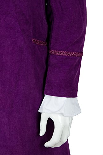 NoveltyBoy Willy Wonka Charlie and the Chocolate Factory Red Johnny Depp Purple Coat Vest Tie Set Costume by NoveltyBoy (Image #2)