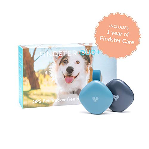Findster Duo+ Pet Tracker Free of Monthly Fees - GPS Tracking Collar for Dogs and Cats & Pet Activity Monitor - Includes Findster Care Membership