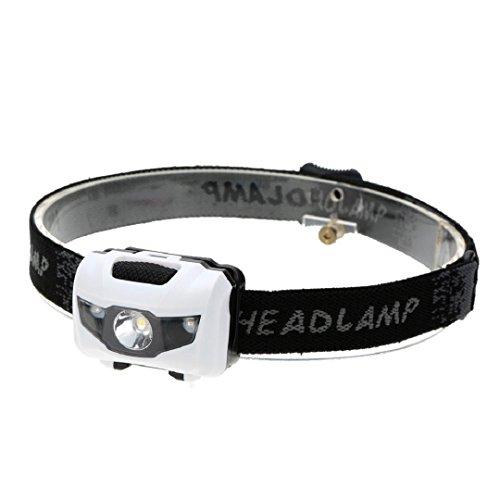 Crystell Headlamp,Adjustable Super Hell Wasserdichte COB LED 3 Modi Scheinwerfer AAA Taschenlampe Outdoor