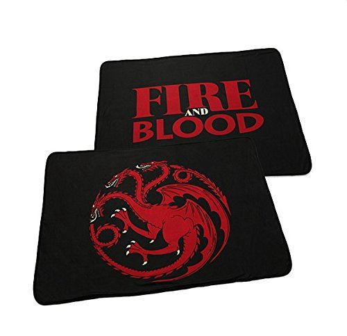 Game of Thrones 2-Sided Fleece Blanket Targaryen Fire and Blood!