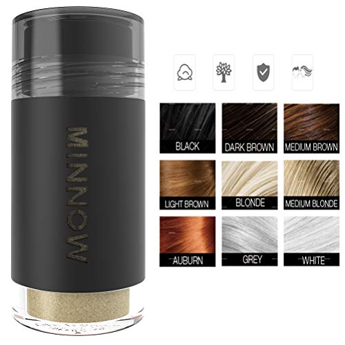 New Arrival MINNOW Hair Building Fibers,Keratin Hair Fibers Hair Loss Concealer For Thinning Hair Powder Volumizing Based,16grams/0.56oz (LIGHT BLONDE) (Best Hair Loss Fibers)
