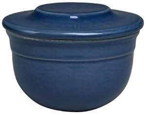 Emile Henry Le Potier Butter Pot, Blue