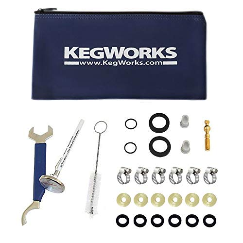 (KegWorks Draft Beer System Parts Repair Kit w/Storage Pouch)
