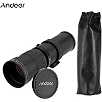 Andoer 420-800mm F/8.3-16 HD Super Telephoto Manual Zoom Lens for Canon Nikon Minolta Sony Pentax Olympus DSLR Camera