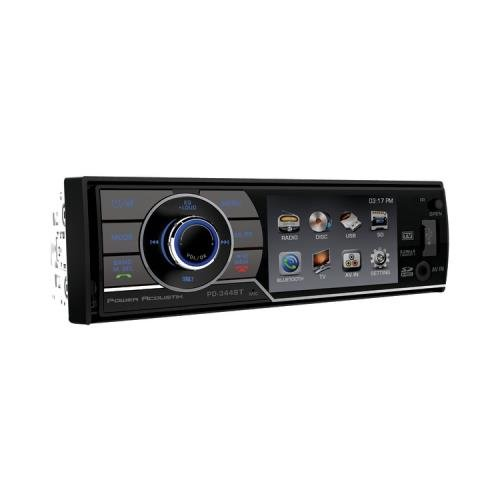 Power Acoustik Pd_344B 3.4 Single_Din In-Dash Dvd Receiver With Detachable Face & Bluetooth(R)