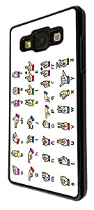 485 - Sign Language Design For Samsung Galaxy A3 Fashion Trend CASE Back COVER Plastic&Thin Metal