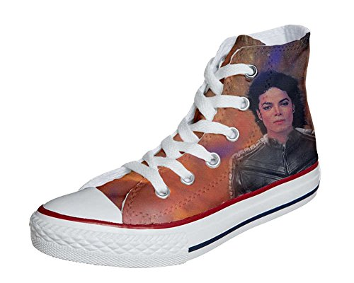 Converse All Star chaussures coutume mixte adulte (produit artisanalPersonnalisé) The King of the rock