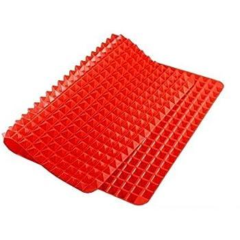 Amazon Com Silicone Baking Mat Pyramid Red Crisper Pan