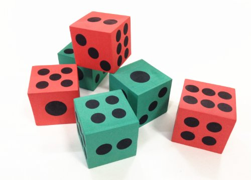 Foam Playing Dice (Dazzling Toys Big Foam Playing Dice - 12 Pack)