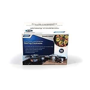 Amazon Com Camco Premium Ceramic Nesting Cookware Set