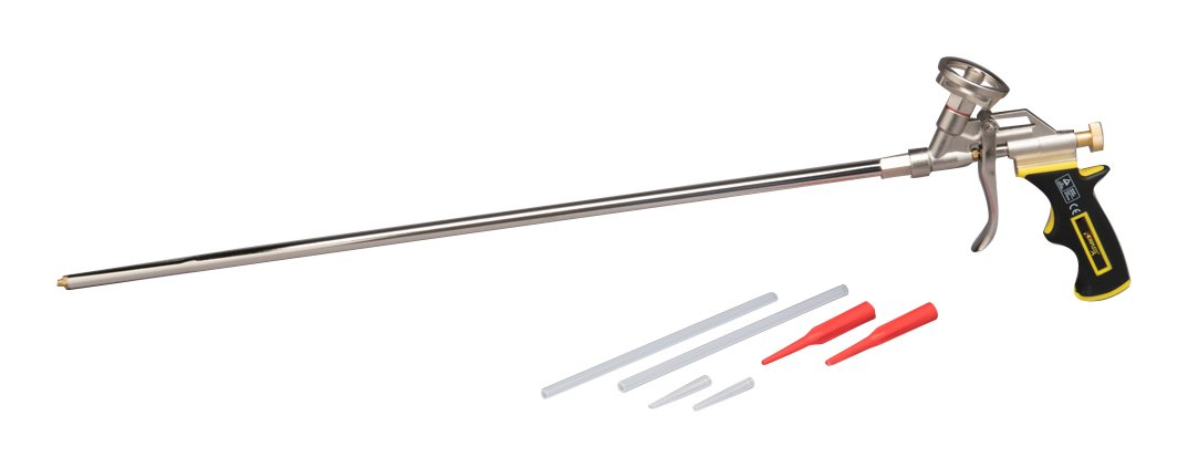 DRIPLESS FG600XL 24 inch Barrel Metal Polyurethane Foam Dispensing Gun Standard, Grey