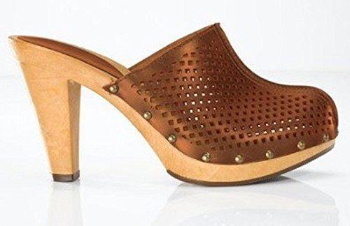 CHILLANY Clogs - Sandalias de Vestir de cuero Mujer marrón - Marron - Cognac