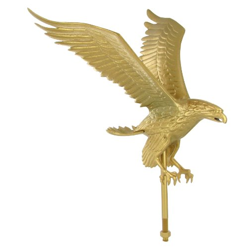 Outdoor Gold Flagpole Eagle - 18in Tall with 15in Wingspan for sale  Delivered anywhere in USA