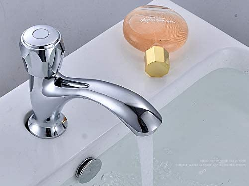 [スポンサー プロダクト]ST1 洗面用 トイレ 手洗い 単水栓 ハンドル式 立水栓 手洗いボウル 洗面台 水道 蛇口 (135mm)
