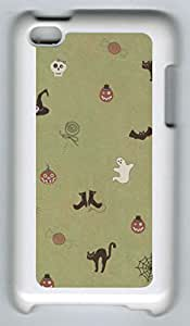 Ipod Touch 4 PC Hard Shell Case Cute Halloween White Skin by Sallylotus
