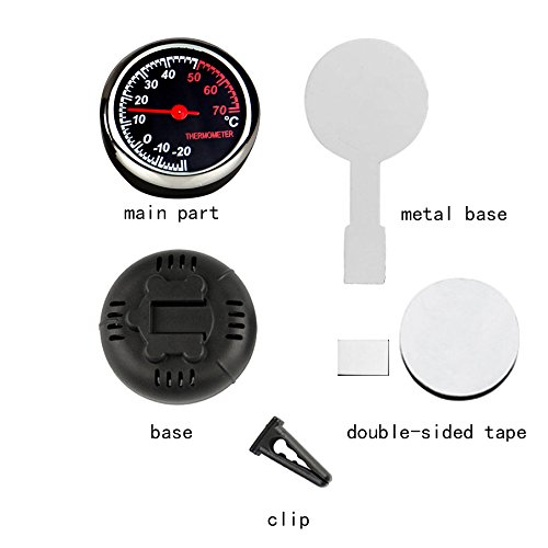 idain Car Dashboard Thermometer - Mini Vehicle Thermometer Decoration Air Vent Cilp by idain (Image #1)