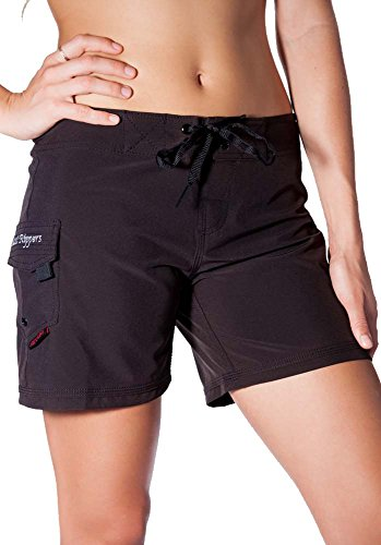 "Maui Rippers Women's 4-Way Stretch 5"" Swim Shorts Boardshorts (10"