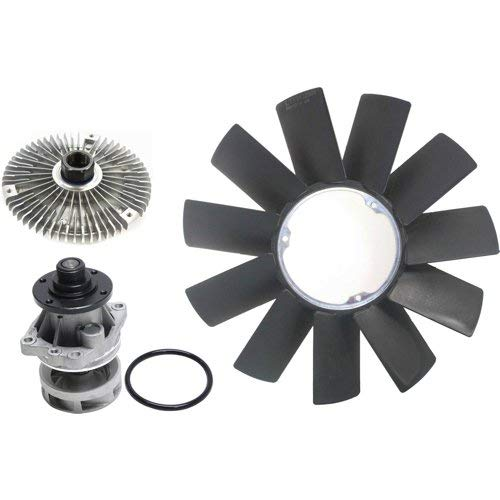 Cooling System Service Kit for BMW 525I 1991-2003 / X5 2001-2006 Set of 3 w/Fan Clutch Fan Blade and Water Pump