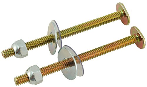 1/4-by-3-1/2-Inch Toilet Bolt Set, Long Bolts, 500 Pairs in A Carton - By Plumb USA by PlumbUSA