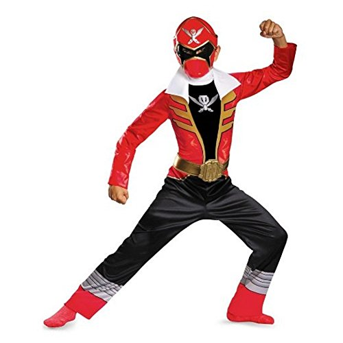 Trio Of Halloween Costumes (Disguise Saban Super MegaForce Power Rangers Red Ranger Classic Boys Costume, Small/4-6)