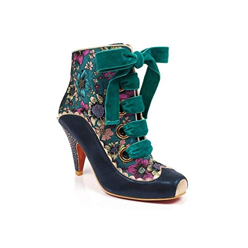 Poetic Femme Irregular Licence A Choice Multicolore Perennial Multi Teal by Passion Bottines Wwqw4d7r0n