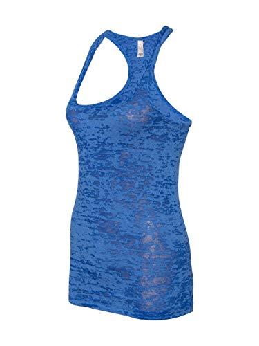 Next Level Womens Burnout Racerback Tank N6533 -ROYAL M Baby Blue 2x1 Rib Tank