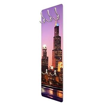 Perchero - Chicago Skyline 139 x 46 x 2 cm, Perchero de ...