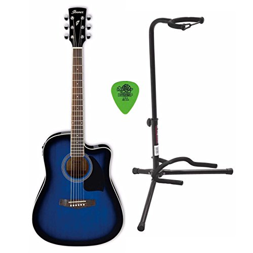Ibanez PF15ECE Performance Dreadnought Acoustic-Electric Guitar Includes Guitar Stand and Guitar Pics