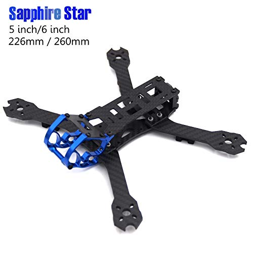 Accessories Sapphire Star 5inch 226 226mm / 6 inch 260 260mm with 4mm Arm Carbon Fiber Quadcopter Frame Rooster Umbrella - (Color: 5inch 226mm)