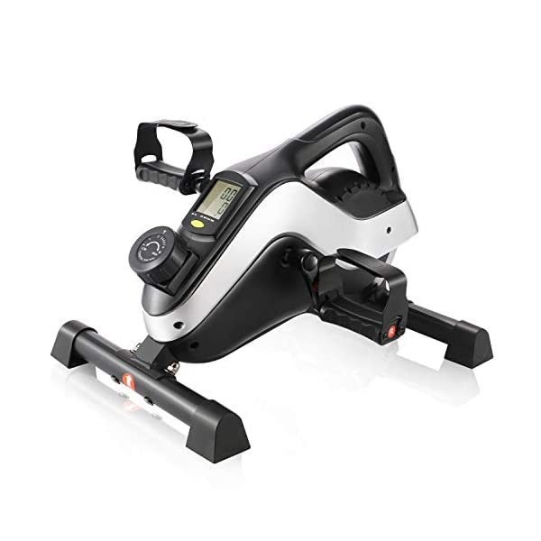 ANCHEER-Under-Desk-Bike-Pedal-Exerciser-Mini-Magnetic-Stationary-Exercise-Bike-for-Home-and-Office-Fitness-2-in-1-Peddler-Equipment-for-Knee-Leg-Arm-Strength-Training-with-LCD-Monitor