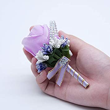 White Nowbetter Women Brooch Pin Cloth Elegant Rose Flower Corsage Brooches Inlaid Crystal Wedding Party Bow Tie Boutonniere