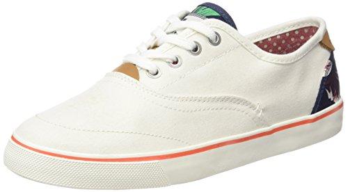 Wrangler Damen Icoon Board Sneakers Weiss (98 Gebroken Wit)