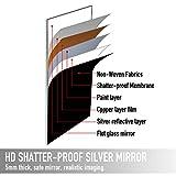 "Aluminum Alloy Thickened Frame-65""x22"", Full Length Mirror, Floor Mirror, Standing Mirror, Full Body Mirror, Large Mirror, Floor Length Mirror, Wall Mirror, Silver Mirror, Silver Aluminum Frame"