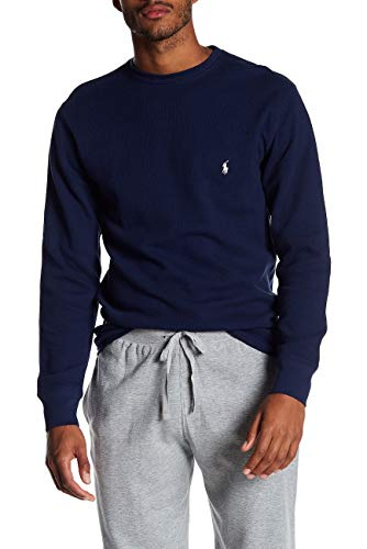 Polo Ralph Lauren Men's Long-sleeved T-shirt/Sleepwear/Thermal (Large, Cruise Navy/White Pony)
