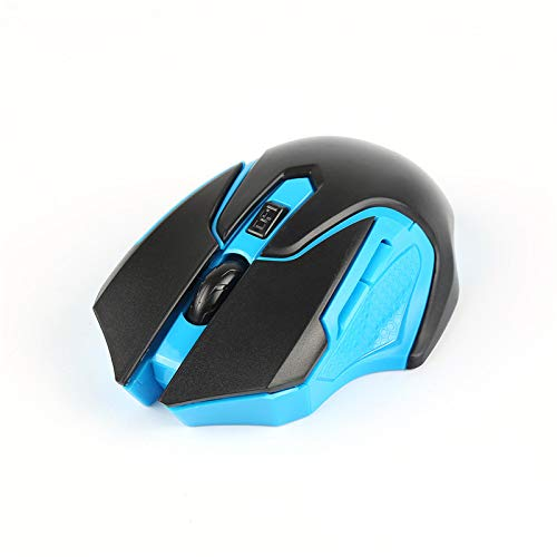 centechia 2.4Ghz Gaming Mouse Optical Wireless Mouse for Laptop Desktop PC Gamer(Blue)