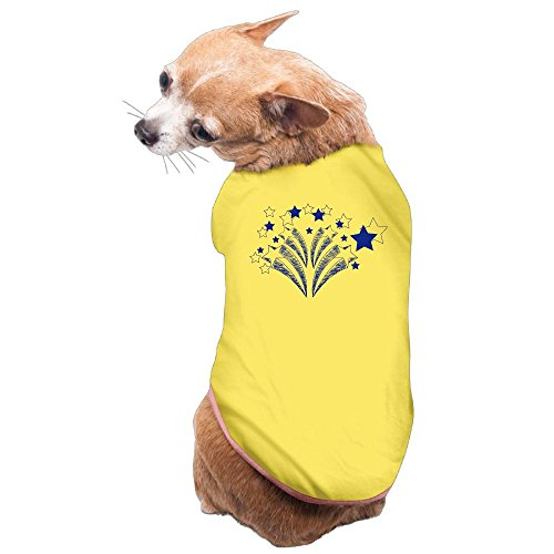 WUGOU Dog Cat Pet Shirt Clothes Puppy Vest Soft Thin Happy Star 3 Sizes 4 Colors Available for $<!--$13.55-->