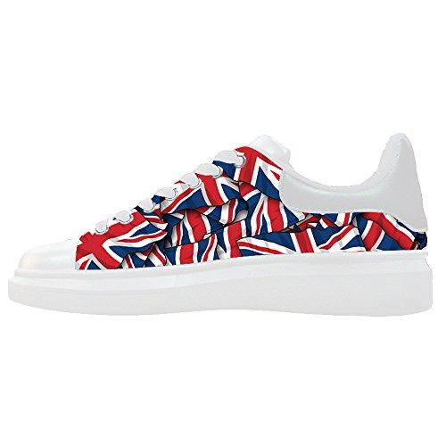 Custom Cartoon Leather Fashion Sneaker Thick Bottom Women's Shoes