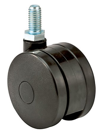 E.R. Wagner Caster, Twin Wheel, Light-Med. Duty, Swivel, Threaded Stem, Type 17, Cap.=90 lbs. (1 Each) - Light Medium Duty Casters