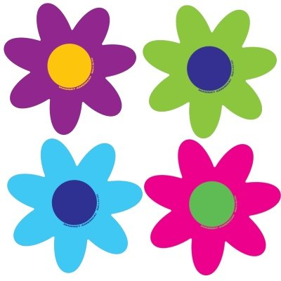 Magnet America Set of 4 Bright Flower Pack - Bright Refrigerator
