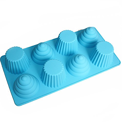 X-Haibei Great Ice Cream Cone Cupcake Soap Pan Bakeware 8-cavity Tray ()